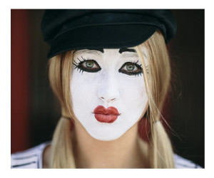 Sad Mime Closeup