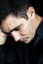 f Depressed Man in Black