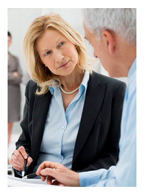 Business Woman Listening Attentively