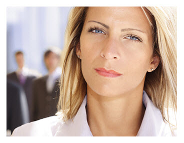 Confident Business Woman Serious Expression