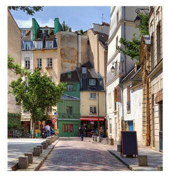 Quiet Neighborhood in Paris