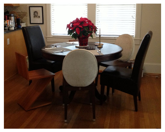 Simple Table Different Chairs