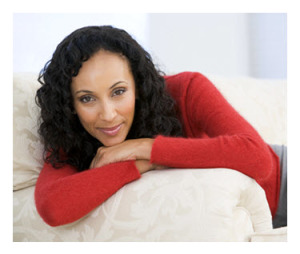 Attractive Confident African American Woman Relaxing