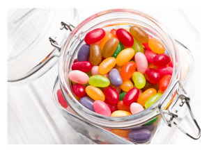 Jelly Beans in a Glass Jar