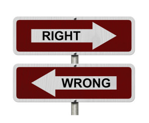 The Right Way and the Wrong Way