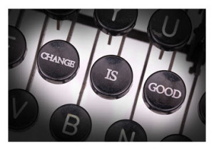 Change Is Good_Words on Typewriter