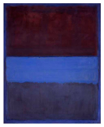 No 61 Rust and Blue by Mark Rothko 1953