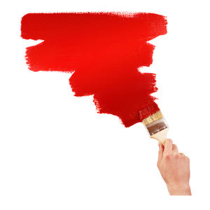 Painting a Wall Red with Brush