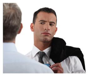 Man suspicious of colleague