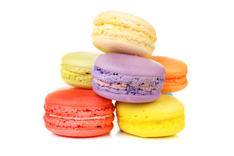 daily plate of crazy colorful macarons