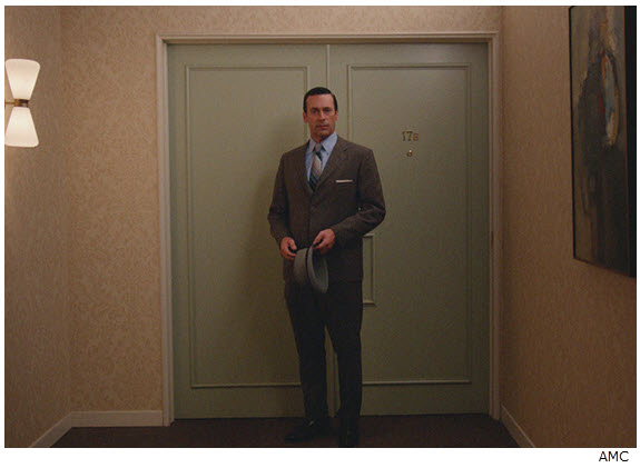 Mad Men Season 7 Episode 10 Don after apartment is sold