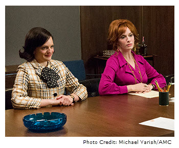 Mad Men Season 7 Episode 8 Peggy and Joan at meeting