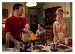 Mad Men Season 7 Episode 9 Don at the Blender with Betty