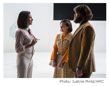 Mad Men Season 7 Episode 9 Mimi Rogers as Pima with Peggy and Stan
