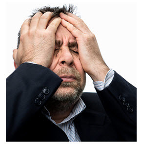 Frustrated Middle Age Man