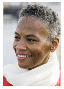 Mature African American Woman Beautiful Short Hair
