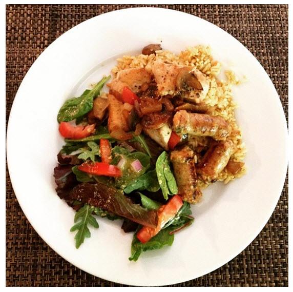 Sunday Night Dinner_Salad_Chicken_Brown Rice