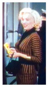Marilyn in Striped Dress