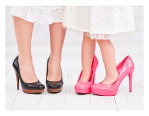 Mother in Heels Daughter in Heels