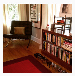 Barcelona Chair Red Rug Hot Shoes