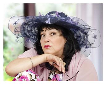 Woman in Kooky Hat