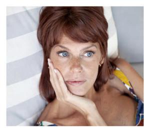 Pensive Woman Blue Eyes