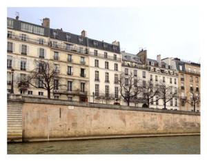 Paris seen from the Seine