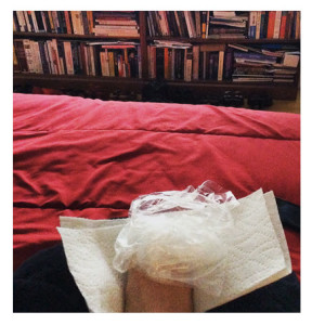 Broken Toe With View of Books