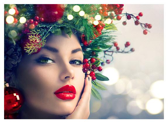 Winter Holiday Makeup and Hair_Christmas Tree