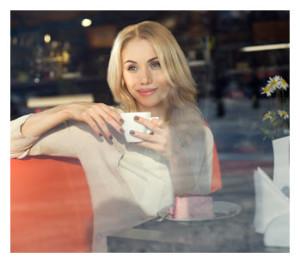 Woman Alone in a Café