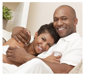 Beautiful African American Couple Embracing