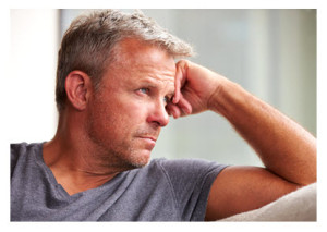 Mature Man in Depressed Mood