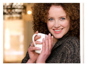 Smiling 50 Year Old Woman With Tea