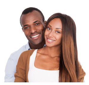 Happy Young Beautiful African American Couple