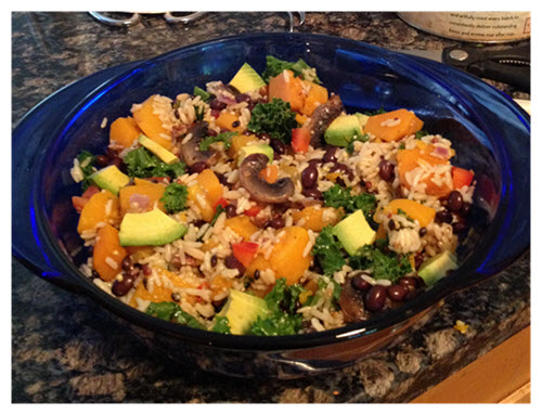 Kale Black Bean Squash Avocado Salad