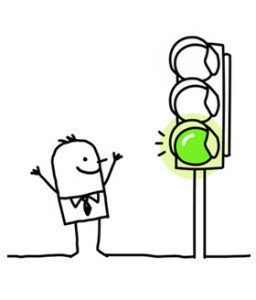 Man at Green Light