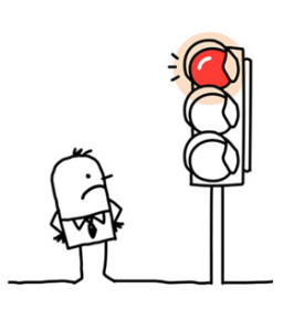 Man at Red Light