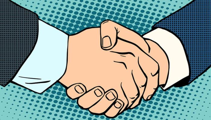 Ah… The Handshake