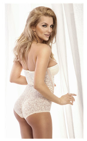Pretty Woman in White Corset