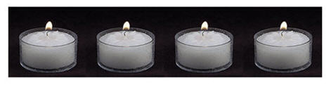 Tea lights for romantic atmosphere. . .