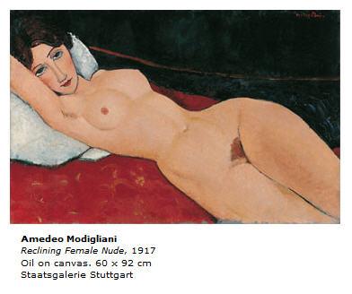 Modigliani Reclining Nude (1917)