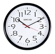 Kincaid Wall Clock courtesy Staples dot com