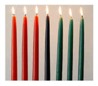 Seven candles for Kwanza on December 26 coutesy sankorepress dot com