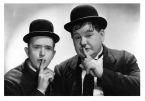 Laurel and Hardy may be iconic, but they aren't known for their sex appeal!