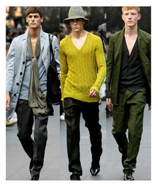 "Mens fashions can be rugged preppy well fitted and still casual. No doubt welcome in the ""woman cave"""