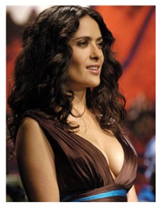 Salma Hayek certainly qualifies as gorgeous and sexy.