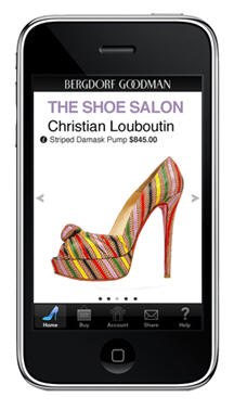 Bergdorf Shoe Salon App - it's almost enough to get me to buy an iPhone! (Even if there's no Bergdorf's nearby.)