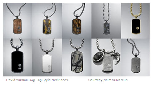 David Yurman assorted men's Dog Tag Style Necklaces