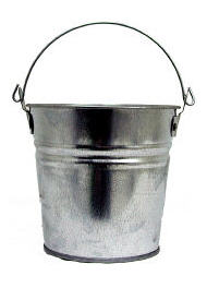 Galvanized metal bucket courtesy Bucket-Outlet and only a few dollars