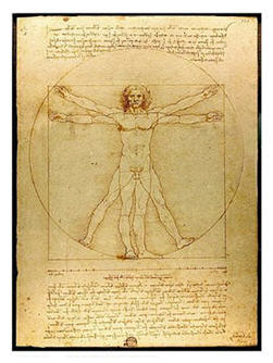 Leonardo da Vinci's Vitruvian Man 1487 courtesy Wikipedia; the blending of art and science, the epitome of the Renaissance Man.